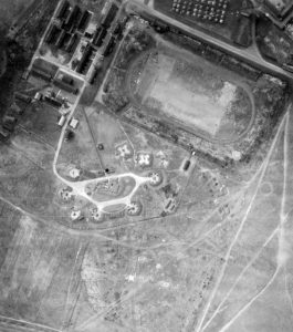 Heavy Anti-Aircraft Guns alongside the Stadium - 1945 (now QE Hospital car-parks and Stadium Road)